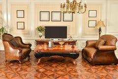 Luksusowy meble w żywym pokoju obraz royalty free