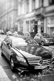 Luksusowy Mercedes-Benz CLS samochód parkujący na ulicie w Francja Obrazy Royalty Free