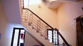Luksusowy mieszkania wnętrze Biegać fan w pokoju zbiory