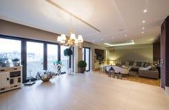 Luksusowy mieszkania wnętrze Obrazy Royalty Free