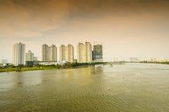 Luksusowy mieszkanie w chi minh mieście Ho, Wietnam Obrazy Royalty Free