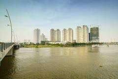 Luksusowy mieszkanie w chi minh mieście Ho, Wietnam Fotografia Royalty Free