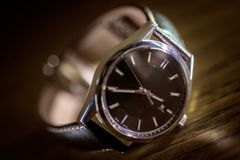 Luksusowy moda zegarek - Klasyczny Timepiece zdjęcia royalty free