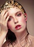 Luksusowy mody dziewczyny portret obraz royalty free