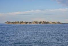 Luksusowy nabrzeże wyspy utrzymanie obrazy royalty free