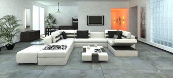 Luksusowy nowożytny żywy pokój Zdjęcie Stock