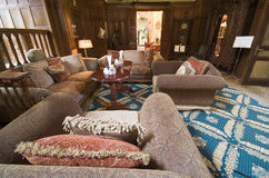 Luksusowy nowożytny żywy pokój Obrazy Royalty Free