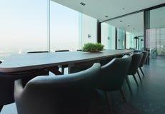 Luksusowy nowożytny pokoju konferencyjnego wnętrze i dekoracja, wnętrza des Obraz Royalty Free