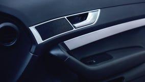 Luksusowy nowożytny samochodowy wnętrze zdjęcie stock