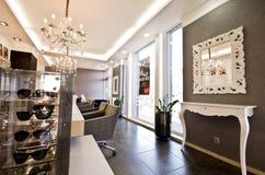 Luksusowy okulisty sklepu wnętrze zdjęcie royalty free