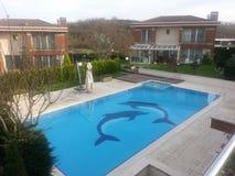 Luksusowy pływacki basen Zdjęcia Royalty Free