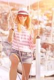 Luksusowy photoshoot na żaglówce Zdjęcie Stock