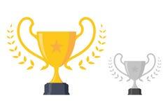 Luksusowy pojęcie projekta trofeum nagrody mistrzostwa osiągnięcie ilustracji