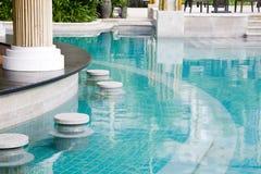 luksusowy poolside Obrazy Royalty Free