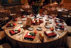 luksusowy recepcyjny położenia stołu ślub Obrazy Royalty Free