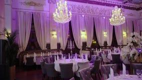 Luksusowy restauracyjny wnętrze zbiory