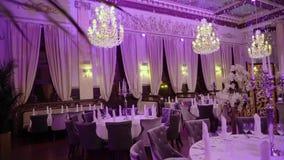 Luksusowy restauracyjny wnętrze zdjęcie wideo