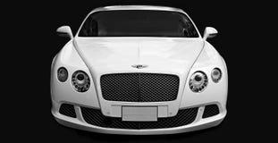 Luksusowy samochodowy Bentley Kontynentalny GT przy miasto ulicą Obraz Stock