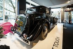 Luksusowy samochodowy II Rolls-Royce Phantom Kontynentalny Parkowy oddział Objeżdża Bar, 1933 Obraz Stock