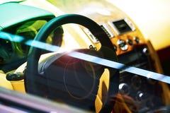 Luksusowy Samochodowy kokpit Zdjęcia Royalty Free