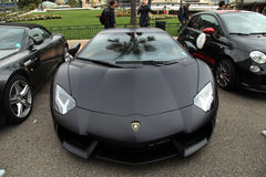 Luksusowy samochodowy Lamborghini blisko monte, Carlo kasyna -, Monaco Obrazy Royalty Free