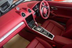 Luksusowy samochodowy wnętrze obrazy stock