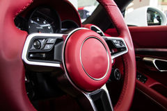 Luksusowy samochodowy wnętrze obraz royalty free