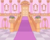 Luksusowy schody w Magicznym pałac ilustracja wektor