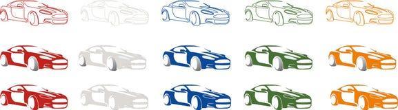 Luksusowy sport, szybki miasto samochodu logo Zdjęcia Royalty Free