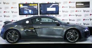 Luksusowy sportowy samochód na prezentaci Zdjęcia Royalty Free