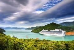 Luksusowy statek wycieczkowy Fotografia Royalty Free