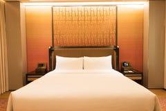 Luksusowy sypialnia apartament zdjęcie stock