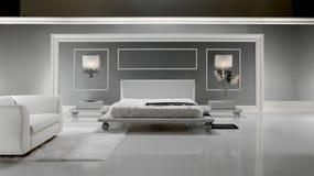 luksusowy sypialnia biel Obrazy Stock