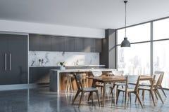 Luksusowy szary loft kuchni k?t z barem ilustracji