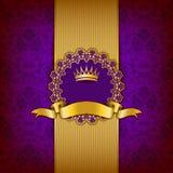 Luksusowy tło z ornamentem, rama Obrazy Royalty Free