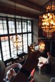 Luksusowy wnętrze przez szklanej piłki fotografia royalty free