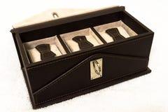 Luksusowy zegarka prezenta pudełko Ogłoszenie towarzyskie, teraźniejszość fotografia royalty free