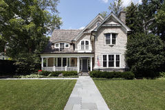 luksusu cedrowy domowy dach fotografia stock