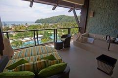 luksusu hotelowy taras zdjęcia stock