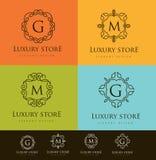 Luksusu Listowy logo Zdjęcie Royalty Free
