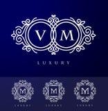 Luksusu Listowy logo Obraz Stock