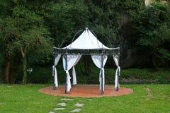 Luksusu ogrodowy namiot Zdjęcia Royalty Free