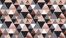 Luksusu różanego złota xmas geometryczny bezszwowy wzór Zdjęcia Royalty Free