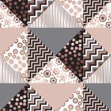 Luksusu różanego złota xmas geometryczny bezszwowy wzór Fotografia Stock