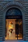Luksusu sklep w centrum miasta Florencja, Włochy Zdjęcie Royalty Free