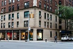 Luksusu sklep w Górnej wschodniej części Manhattan obraz royalty free