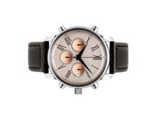 Luksusu srebra mężczyzna zegarek Fotografia Stock