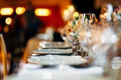 Luksusu stołowy położenie Obrazy Royalty Free