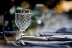 Luksusu Stołowy położenie dla ślubów i ogólnospołecznych wydarzeń Obrazy Royalty Free
