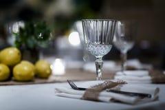 Luksusu Stołowy położenie dla ślubów i ogólnospołecznych wydarzeń Fotografia Stock